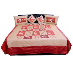 5 Piece Silk Double Bed Cover 305