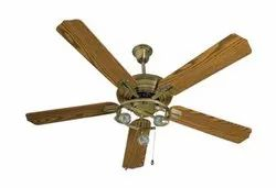 Cedar Antique Brass Ceiling Fan