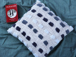 Beautiful Cotton Tufted Cushion Cover With Block Style
