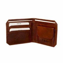 K Design Brown Fancy Gents Wallet