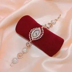 American Diamond Pearl Watch