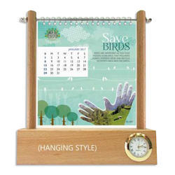 Wooden Swinging Desk Calendar