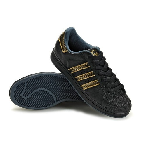 hot sale online 61ea0 86ca7 Adidas Superstar Black Gold Sneaker Shoes