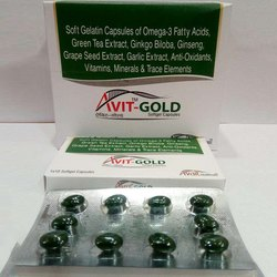 Soft Getatin Capsules of Omega-3 Fatty Acids, Green Tea Extract, Ginkgo Bilaba, Ginseng Capsule