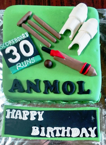 Cricket Theme Cake At Rs 1700 Pack