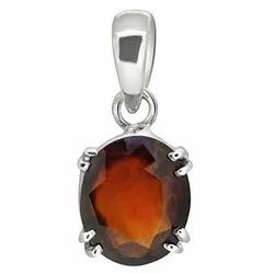 Natural Hessonite Stone Pendants (Gomed)