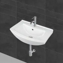 White Ceramic Wall Hung Wash Basin for Bathroom