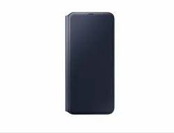 Black Canvas Cotton Samsung Galaxy A70 Wallet Cover