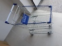 Stainless Steel Blue, Silver Shopping Trolley