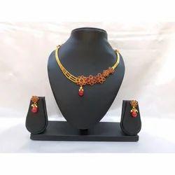 Brass And Pearl Fashion Jewelry Set