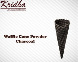 Kridha Charcoal Waffle Cone Premix Powder, Packaging Type: Packet