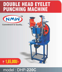 Automatic Double Head Eyelet Punching Machine