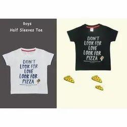Cotton 1-12 Years Kids Boys Printed T Shirt