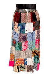 Printed Patchwork Embroidery Skirts