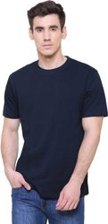 Navy Blue Plain Cotton T Shirt