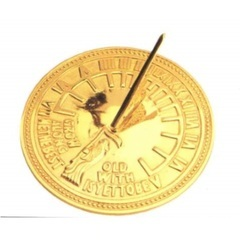 Latest Collection Of Unusual Vintage Brass Small Sundial With Built In Compass Maritime Compasses
