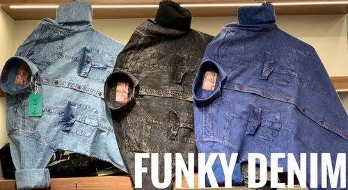 1231f84fe19 Plain Full Sleeves Funky Denim Shirt