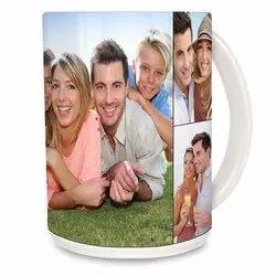 White Ceramic Personalised Mug, for Office