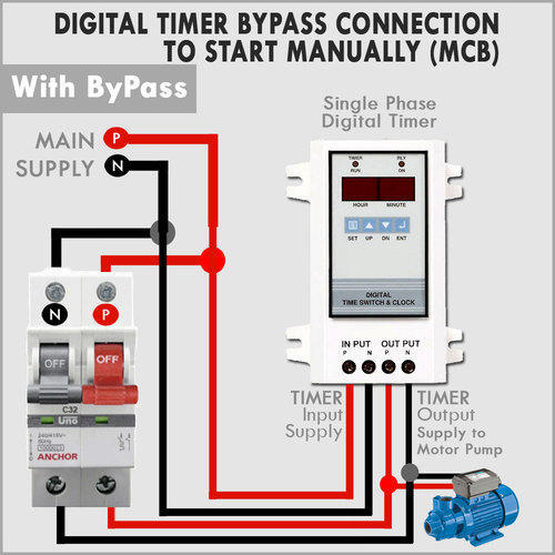 Digital Programmable Timer for Water Pump on