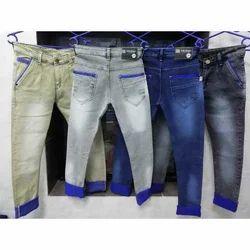 Faded Comfort Fit Men's Designer Denim Jeans