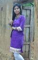 Hand Printed Sohari Designed Ladies Kurti Purple Color