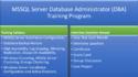 MSSQL Server Database Administrator Training Program