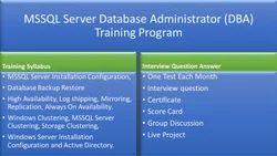 MSSQL Server Database Administrator Training Program