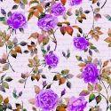 Digital Printed Floral Design  crape Fabric
