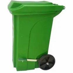 90 L Plastic Pedal Wheeled Dustbin