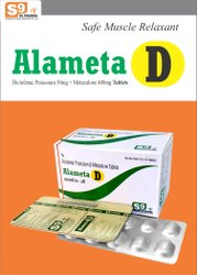 Metaxalone 400mg  Diclofenac Potassium 50mg