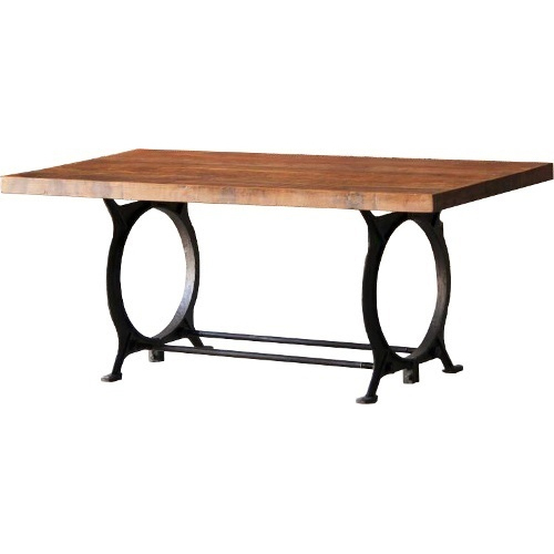 121 51 51cm Wooden Wrought Iron Center Table