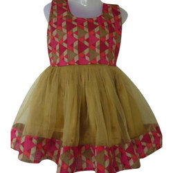 Party Wear Girls Printed Frock