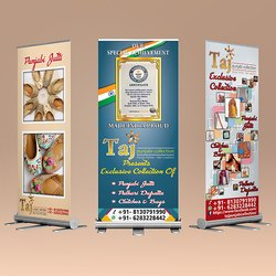 Banner Material Standee Printing Service, For Advertisment, Size: 2'x5' And 3'x6' And 3' Hanger