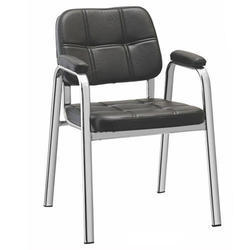 SPS-279 Black Leather Visitor Chair