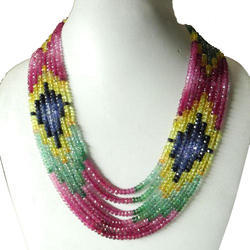 Precious Multi Beads Necklace
