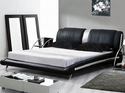 Wood Leather Bed