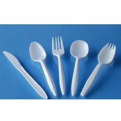 White Plastic Cutlery Set