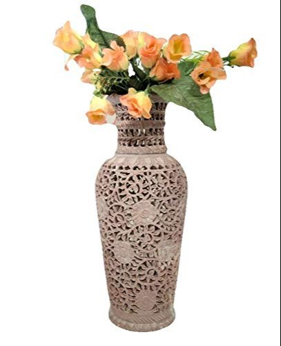 249 & Sehar Crafts Flower Pot Marble Flower Vase Home And Office Decorative Handmade Decorative Item 12 In