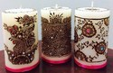 Mehndi Designer Candles