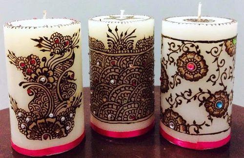 Mehndi Designer Candles