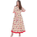 JAIPUR PRINTS PRINTED RAYON KURTI WITH FLARED SLEEVES