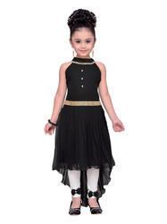 Black Kids Partywear Dress For Girls