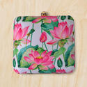 Raw Silk Floral Printed Clutch
