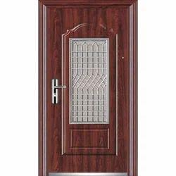 Polished Teak Wood Natural Glossy Home Door