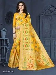 Banarasi Silk With Jecard Zari Saree