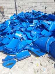 Blue HDPE Drum Scrap