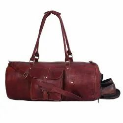 Travel Business Men Leather Travel Duffel Bag