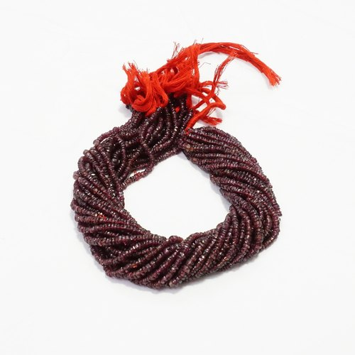 Garnet Tyre Heishi Smooth Beads