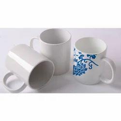 White Ceramic 300 mL Coffee Mug, Packaging Type: Box