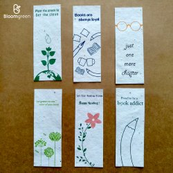Plantable Seed Paper Bookmarks, Packaging Type: Packet